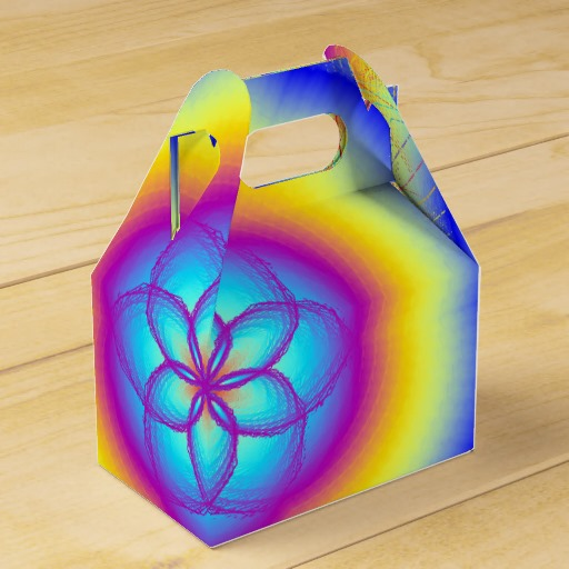 Rainbow Wedding Rainbow Flower Favor Box