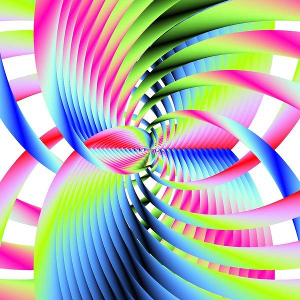 Quantum Scalar Vector Energy Rainbow by poetrymanpoetry (print image)