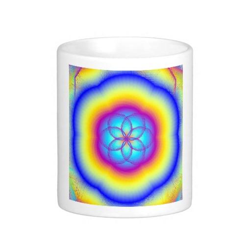 Stained Glass Rainbow Coffee Mug