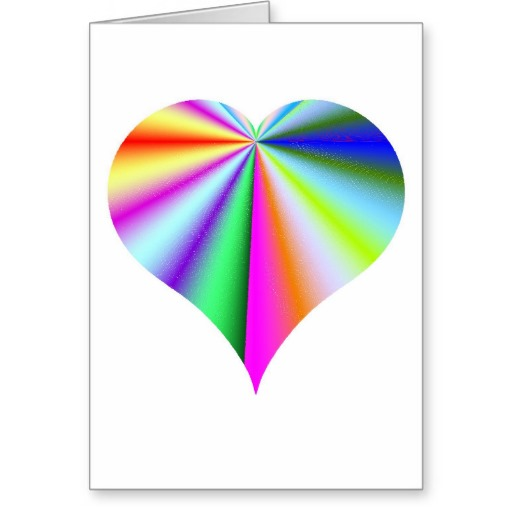 Sweet Sticky Rainbow Heart Card