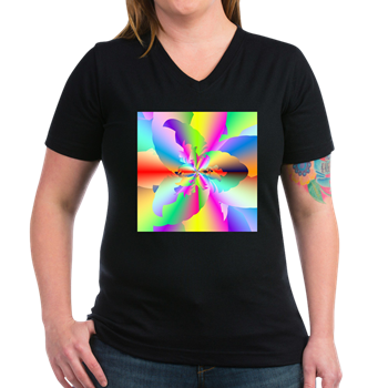 Fractal Fire Flower T-Shirt
