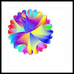 Rainbow Cluster Framed Print by Michael Skinner