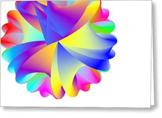 Rainbow Cluster Greeting Card by Michael Skinner
