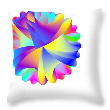 Rainbow Cluster Throw Pillow by Michael Skinner