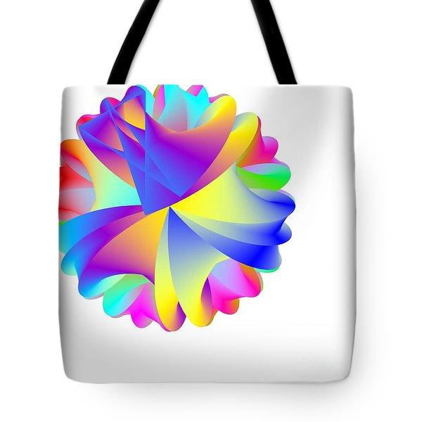 Rainbow Cluster Tote Bag by Michael Skinner